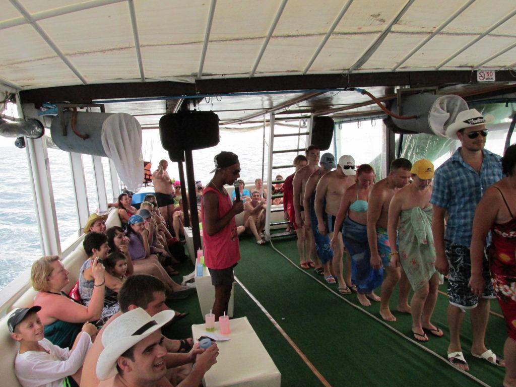 Поездка в Таиланд. Морская прогулка. Анимационная программа на корабле